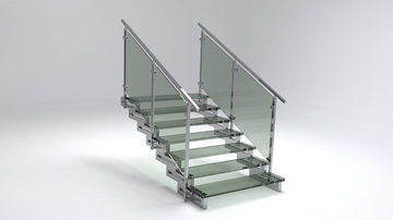 Glazen trapsysteem